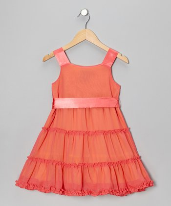 Red Tiered Dress - Girls