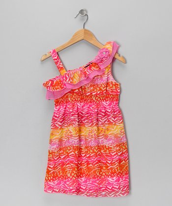 Sunset Leopard Dress - Toddler