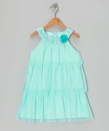 Pantone Glitter Tiered Tulle Yolk Dress - Toddler & Girls
