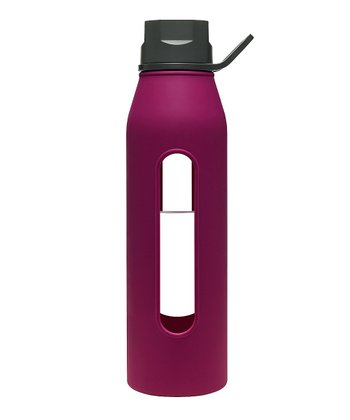 Black & Purple 22-Oz. Classic Glass Water Bottle