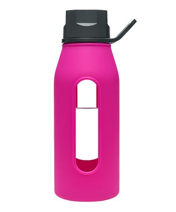 Black & Fuchsia 16-Oz. Classic Glass Water Bottle