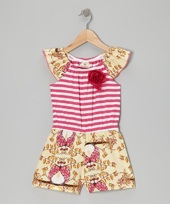 Mustard & Red Abby Romper - Girls