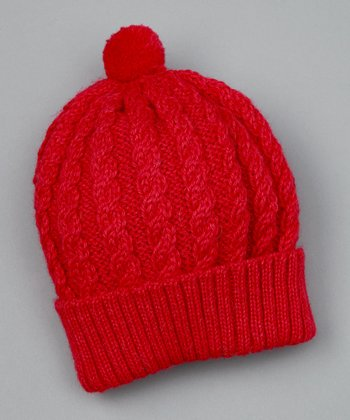 Pink Cable Knit Beanie - Toddler & Kids