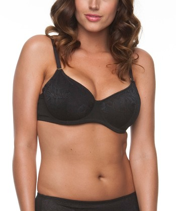 Black Unlined Lace Bra - Plus