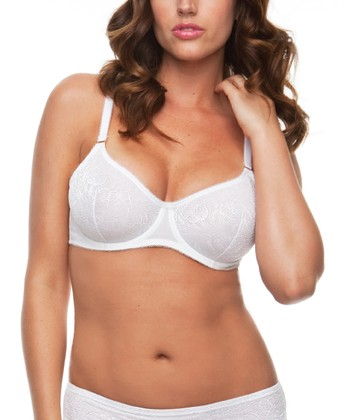 White Unlined Lace Bra - Women & Plus
