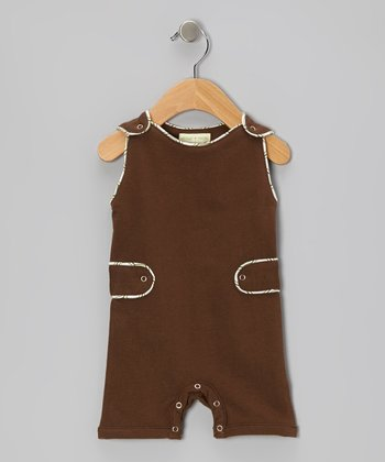 Brown Fossil Organic Shortalls - Infant