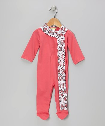 Pink Ruffle Organic Wrap Footie - Infant