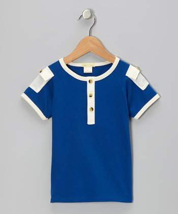 Blue Pocket Organic Henley - Infant & Toddler