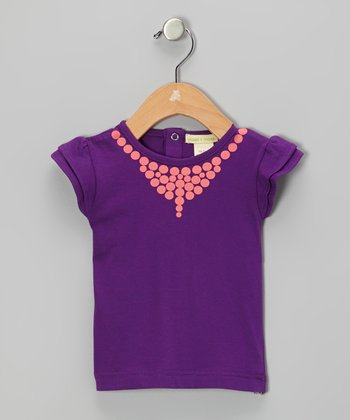Purple Necklace Organic Tee - Infant, Toddler & Girls