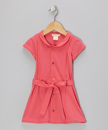 Pink Organic Button-Up Dress - Infant & Toddler