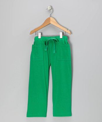 Green Vintage Organic Pocket Pants - Infant