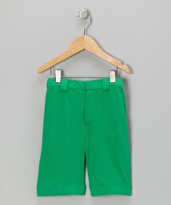 Green Organic Pocket Shorts - Infant, Toddler & Kids
