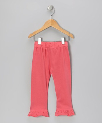 Dark Pink Ruffle Organic Leggings - Infant & Toddler