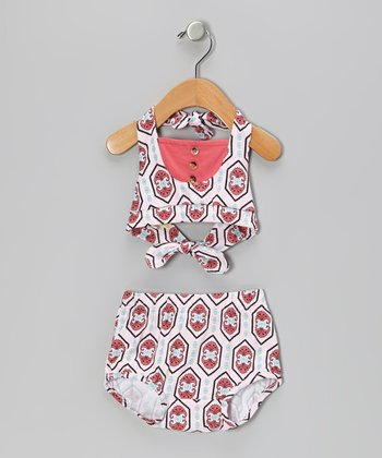 Pink Organic Sunsuit - Infant & Toddler