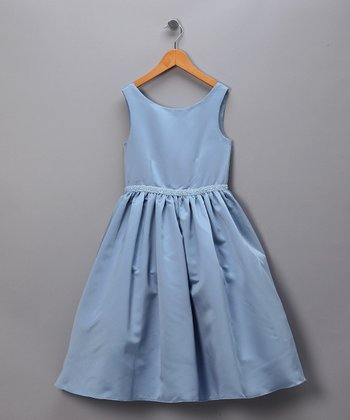 Periwinkle & Blue Beaded Pageant Dress