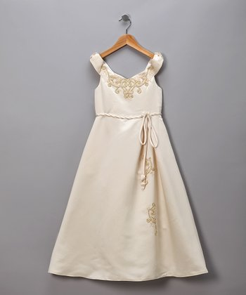 Coffee Pretty Princess Pageant Dress
