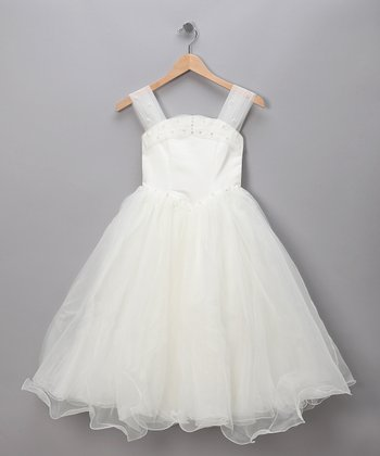 Ivory Rhinestone Pageant Dress