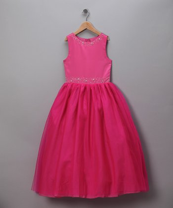 Raspberry Formal Dress - Infant, Toddler & Girls