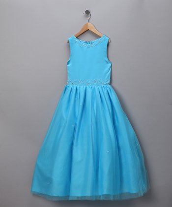 Turquoise Formal Dress - Infant, Toddler & Girls