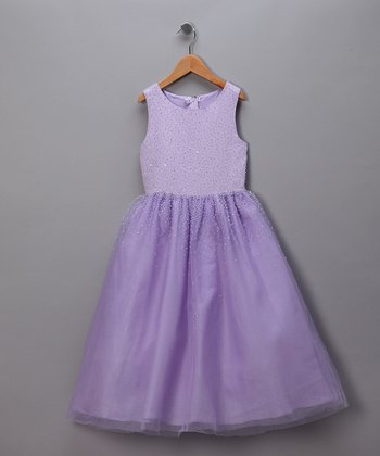 Lilac Pretty Princess Pageant Dress