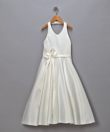 Ivory Sparkle Rhinestone Pageant Dress