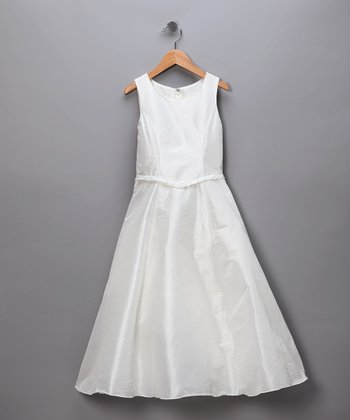 Ivory Classic A-Line Pageant Dress
