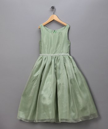 Sage Chiffon Pageant Dress