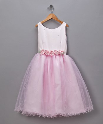 Pink Pearls & Roses Pageant Dress - Toddler & Girls