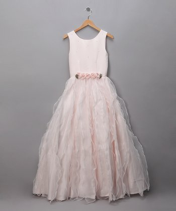 Pink Roses & Waves Pageant Dress