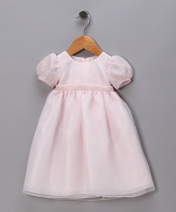 Pink Puff Sleeve Pageant Dress