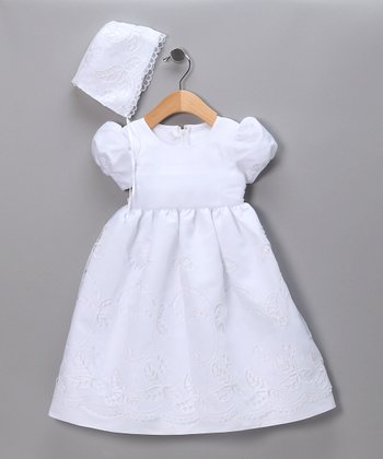 White Embroidered Pageant Dress