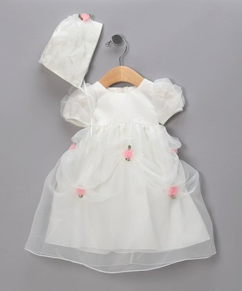 Pink Rosette Pageant Dress