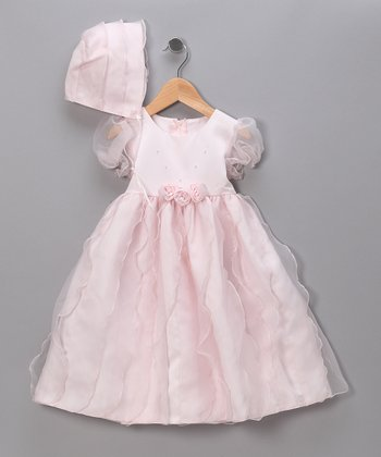 Pink Rosette Wave Pageant Dress