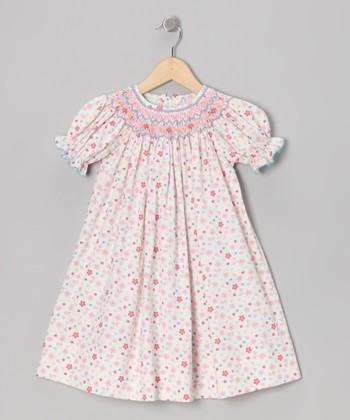 Pink Floral Bishop Dress - Infant, Toddler & Girls