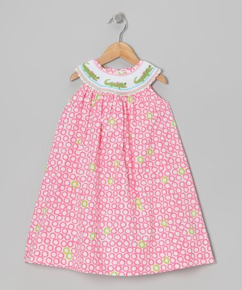 Pink Alligator Smocked Yoke Dress - Infant & Toddler