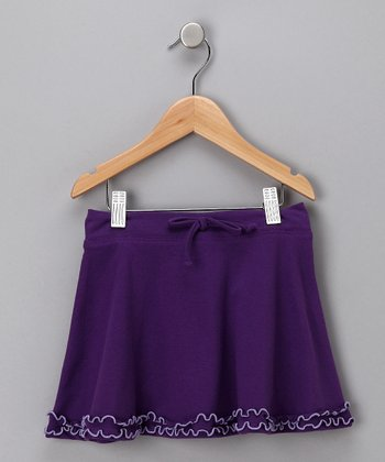 Purple & Lavender Ruffle Skirt - Toddler & Girls