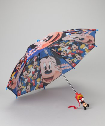 Blue Mickey Mouse Umbrella