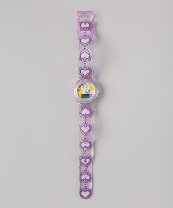 Purple Princess Jelly Strap Digital Watch