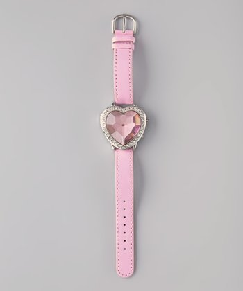 Pink Princess Digital Watch & Heart Case