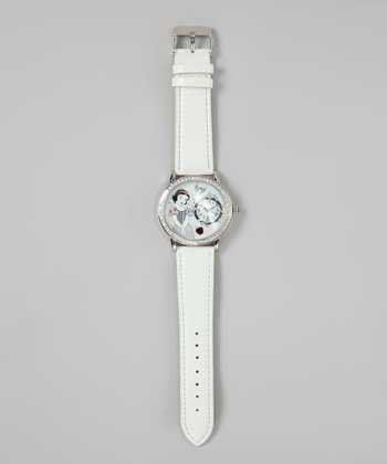 White Snow White Analog Watch