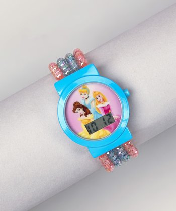 Blue Princess Beaded Digital Watch