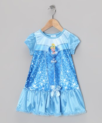 Blue Cinderella Ruffle Nightgown - Toddler