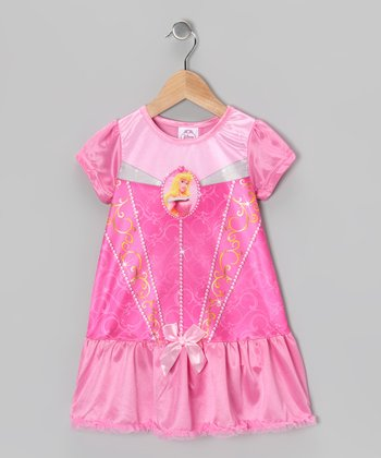 Pink Princess Ruffle Nightgown - Toddler