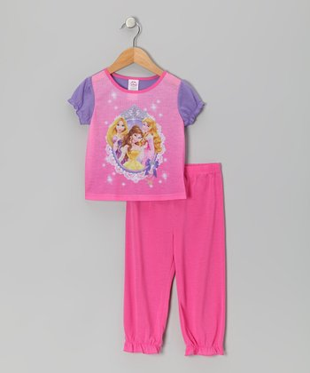 Pink Princess Frame Pajama Set - Toddler