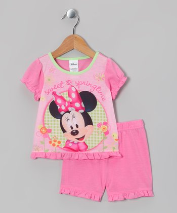 Pink Minnie 'Sweet Springtime' Pajama Set - Infant