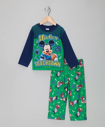 Green Mickey Mouse Touchdown Set - Toddler