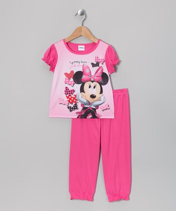 Pink Minnie 'So Many Bows' Pajama Set - Infant & Toddler