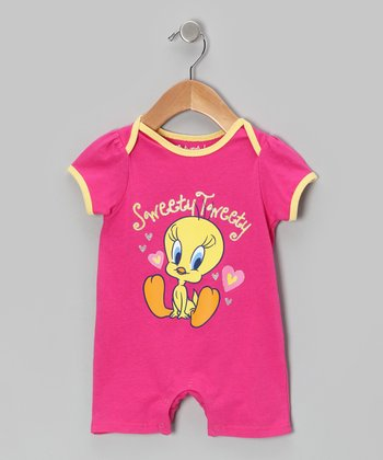 Pink 'Sweety Tweety' Romper - Infant