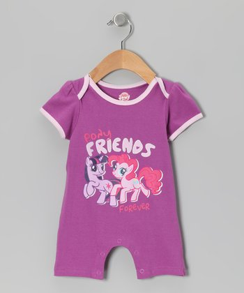 Purple 'Pony Friends Forever' Romper - Infant