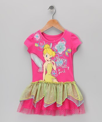Fuchsia Tinker Bell Petal Dress - Toddler